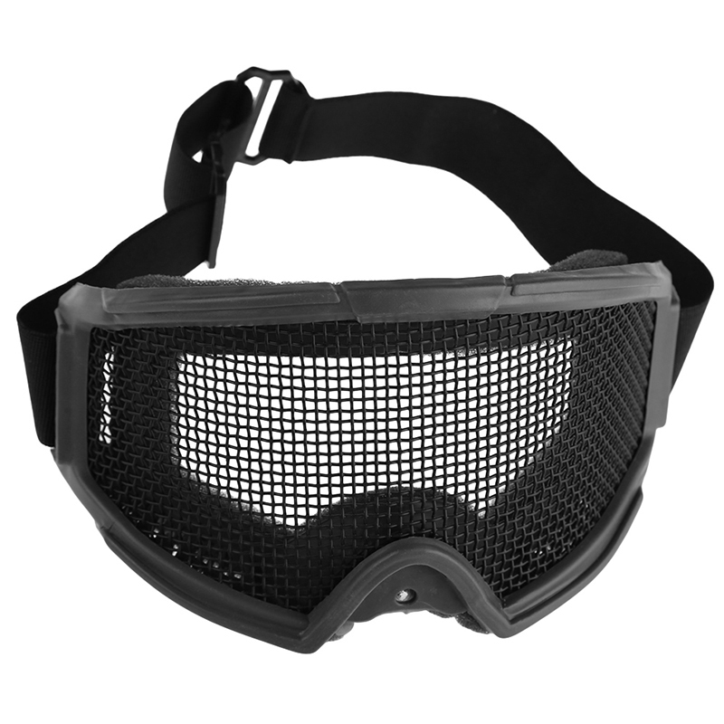 Nye ankomster Airsoft Tactical Eye Protection Metal Mesh Glasses Goggle Outdoor Sports Camping Jakt Eyewear Safety Accessories