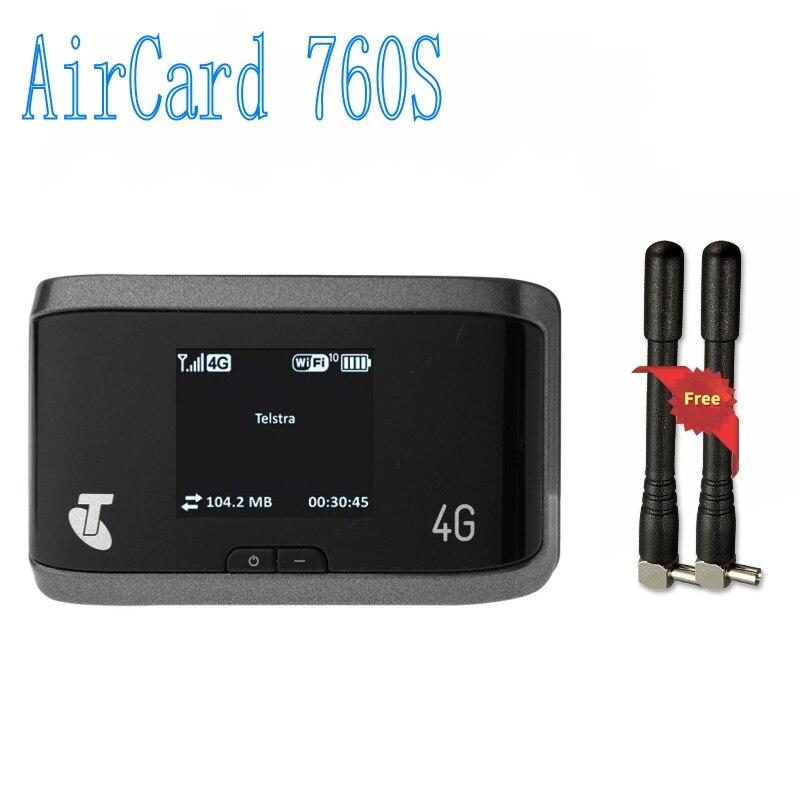 Débloqué nouveau LTE 100 M 4G routeur avec emplacement pour carte Sim Sierra AirCard 760 S 4G LTE routeur sans fil, PK AirCard 754 S 753 S