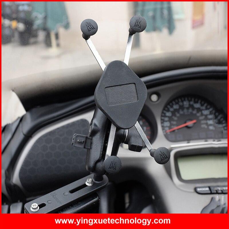 Скутер мотоцикл тормоз/клатч водохранилище базы сотовый телефон держатель подставки для 4-5.5 дюймов мобильных телефонов и GPS