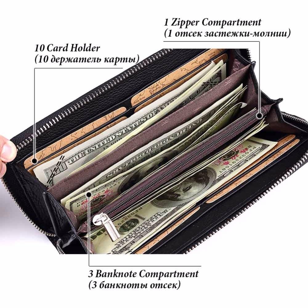 KAVIS 2019 Famous Brand Men Wallets Genuine Leather Coin Purse Male Cuzdan  Clutch Long Business Walet Portomonee Magic Perse