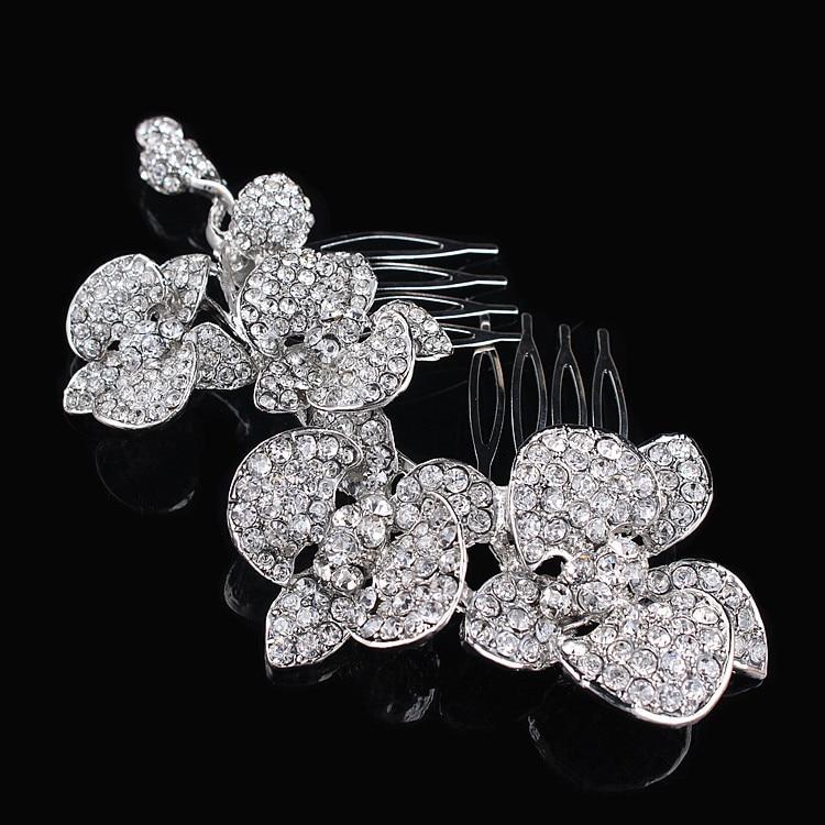 Modni poročni dodatki Charm avstrijski kristalni cvetlični list - Modni nakit - Fotografija 5