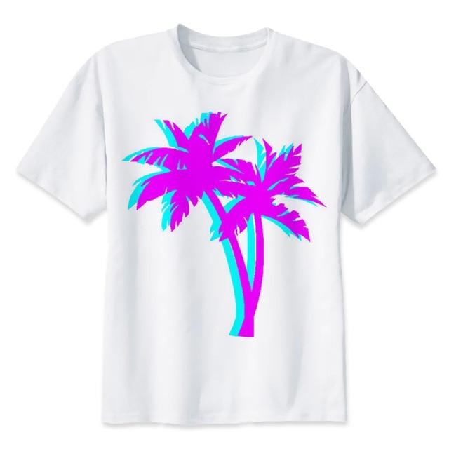 Vaporwave T-shirt männer sommer t-shirt boy print t-shirt anime t-shirt marke kleidung weiße farbe oberseiten-stück MR1255