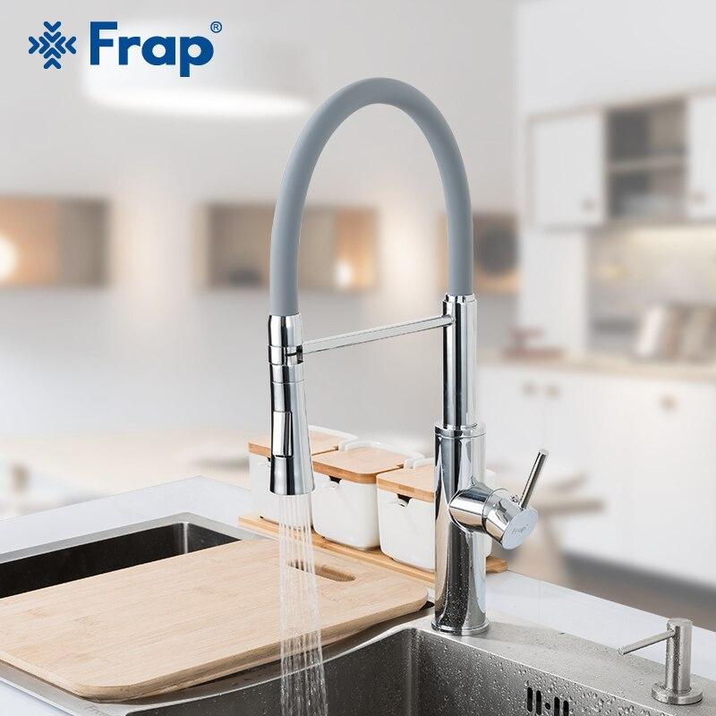 Robinet de cuisine FRAP robinet d'évier de cuisine flexible de mode mélangeur d'eau 3 robinets de robinet de couleur robinet à 2 voies