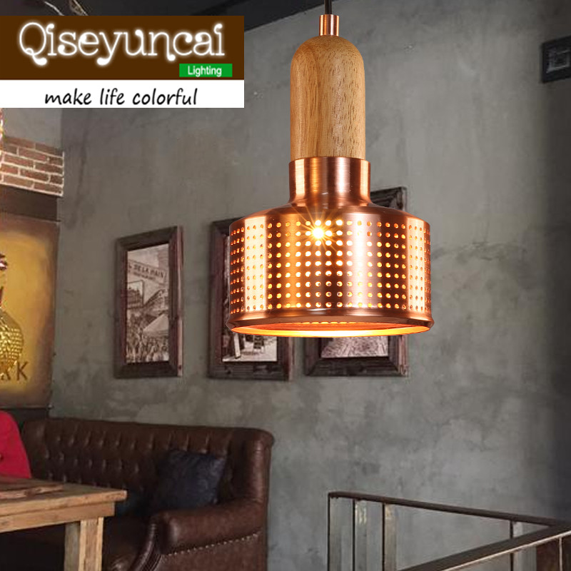 American country Vintage industrial iron single head small pendant lights restaurant bar bar creative Loft staircase Lighting american country style iron loft single head pendant lights vintage industrial wrought metal lamps light for restaurant bar