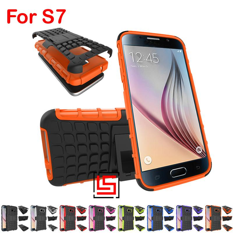 Armor Rugged Hybrid Heavy Duty Hard PC Plastic TPU Soft Rubber ShockProof Back Phone Case Cover Bag Cove For Samsung Galaxy S7