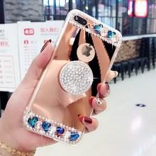 Хрустальное сердце зеркало телефон чехол для iPhone 6 6s 7 8 plus X XS max XR samsung galaxy s6 s7 edge s8 s9 s10 плюс Примечание 5 8 9