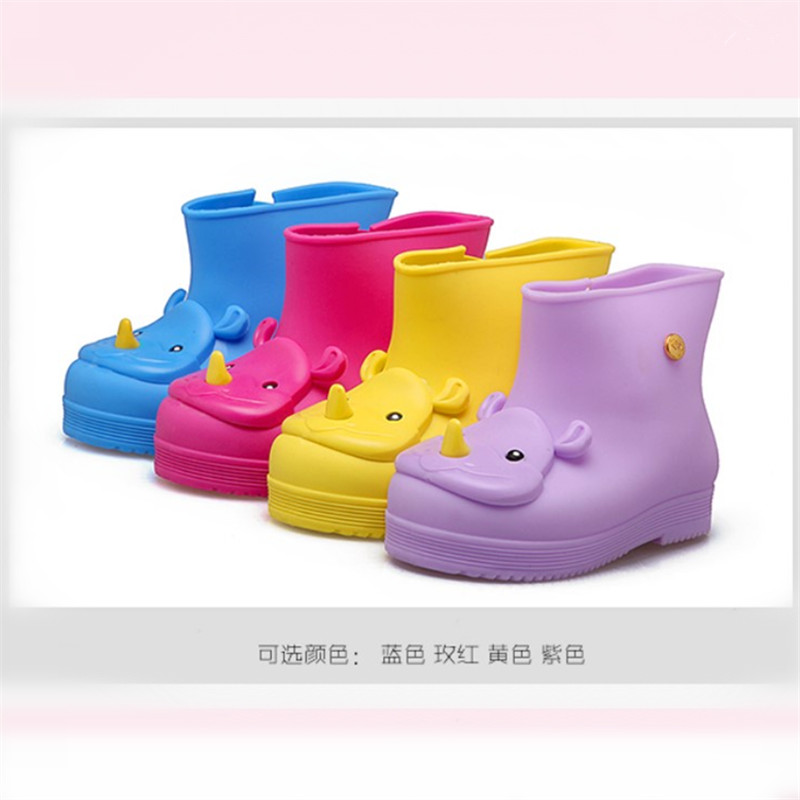 Children Rainshoes Fashion Boots Kid Rainboots Enfants Bottes Filles Baby Kids High boots Cartoon Soft Bowknot Shoes ...