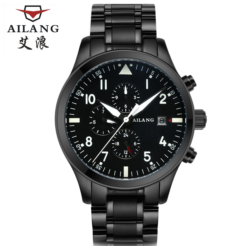 Ailang Watch Men's Luxury Brand Self Wind Mechanical Automatic men watches Fashion Waterproof Alarm Clock Male ailang brand men automatic self wind watches leather skeleton tourbillon mechanical clock male rose gold shell watch new
