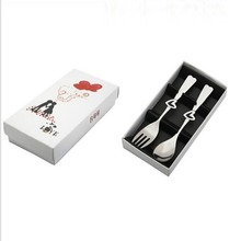 2Pcs/Set Love Heart Spoon Wedding Favor Party Gift Wedding Supplies