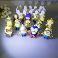 Wholesale 18 kinds of Led Minions Keychains,Despicable Me 3 minion,talk Minions with flashlight and sound,led keyrings
