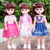 Girl princess doll toys 43cm baby reborn doll toys for children gift smart taliking bling eyes vinyl babies alive doll