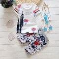 Nuevo Algodón Del Verano Del Bebé Ropa de Manga Corta Camisetas + pantalones cortos Bebé Niños Conjuntos Niños Ropa Chándales para Recién Nacido Chidlren