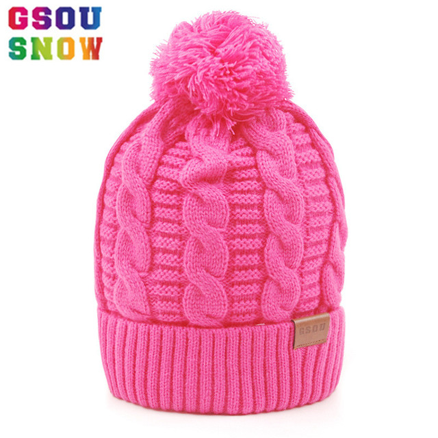 GSOU SNOW Ski Hat Winter Thermal Windproof Snowboard Hats Men Women Outdoor  Mountain Skiing Snowboarding Camping Knitted Caps 801b14cbc2c