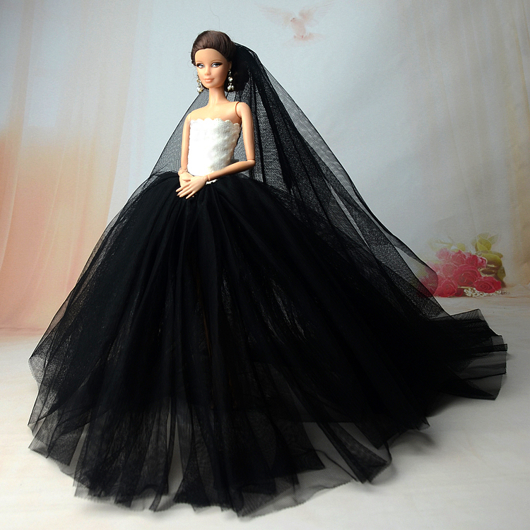 NK-Doll-Dress-High-quality-Handmade-Long-Tail-Evening-Gown-Clothes-Lace-Wedding-Dress-Veil-For-Barbie-16-Doll-Best-Gift-4