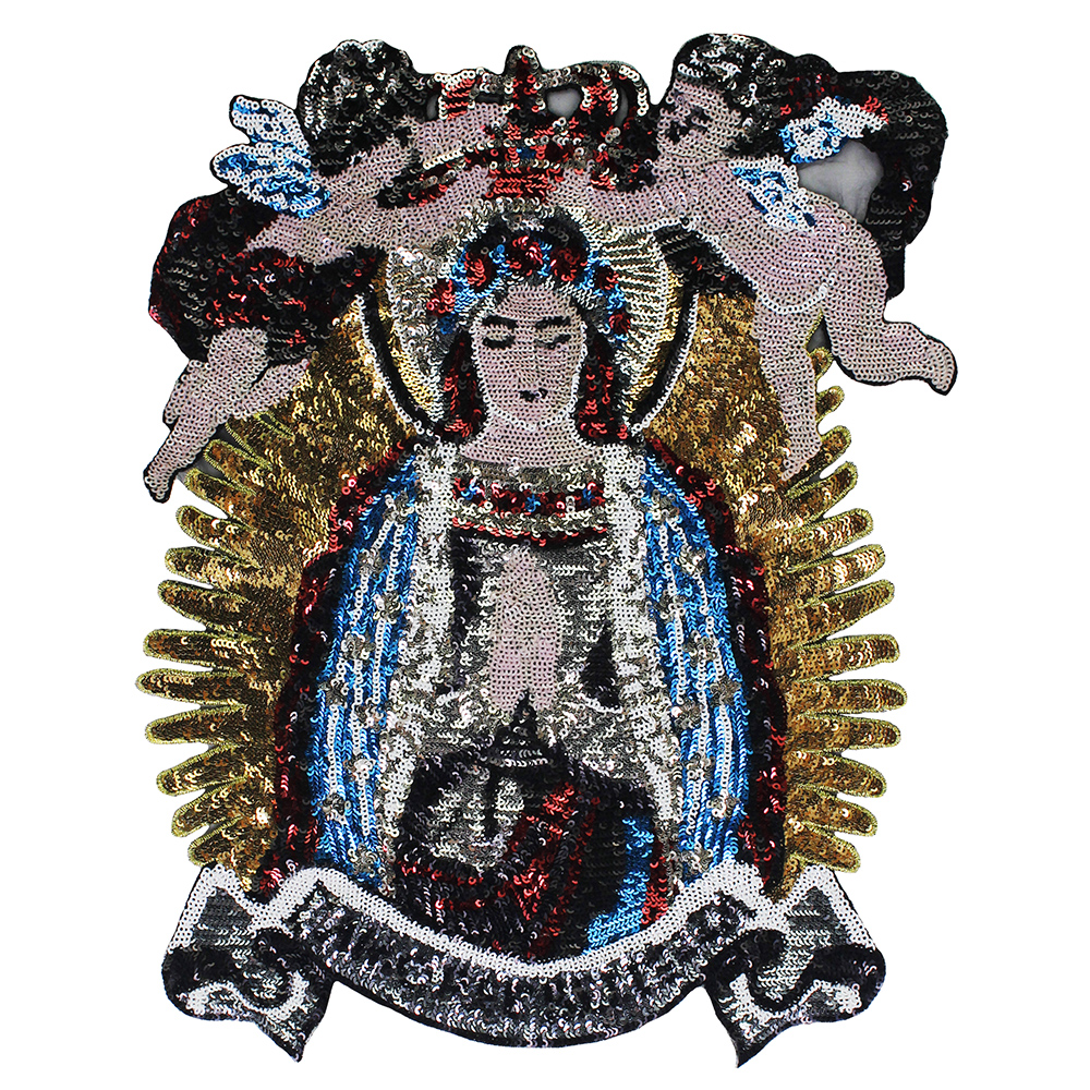 Beaded sequin Madonna patches embroidery fabric patches brand fashion large  applique patches sew on-in Patches from Home   Garden on Aliexpress.com ... 59528d3f0f25