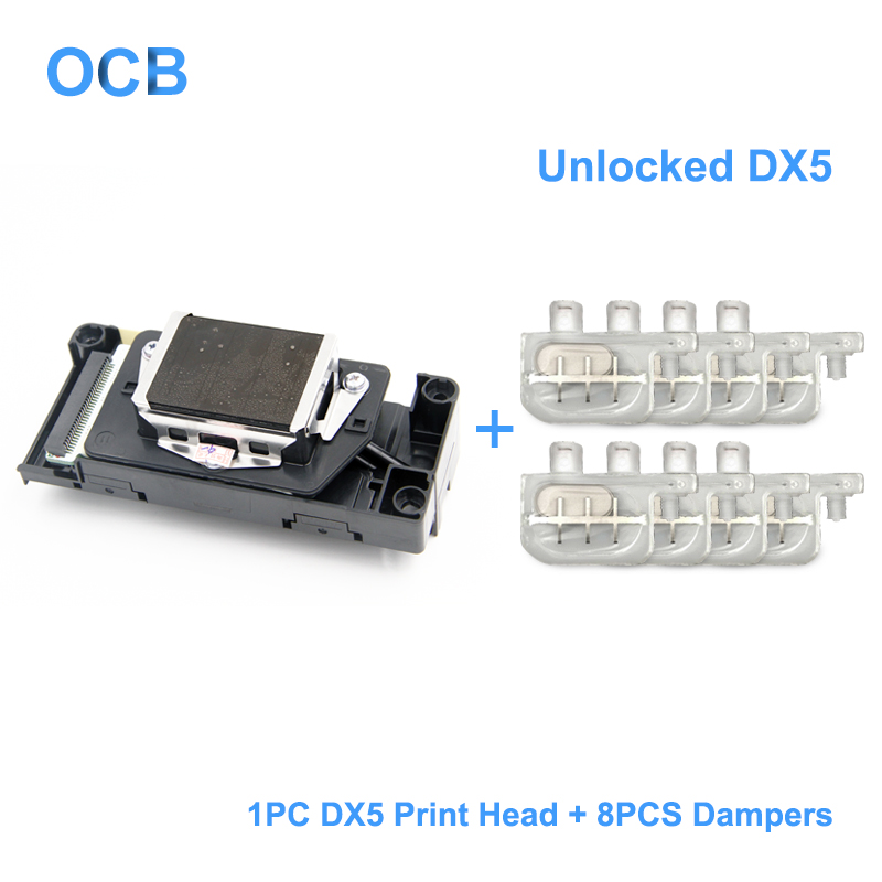 Original DX5 Unlocked Printhead DX5 Print Head For Epson Stylus Pro 4000 Printer Water Based Print Head (8 Pcs Dampers For Free) original f138040 print head printhead for epson r2100 pro 7600 9600 r2200 printer head with 2 pcs ink damper