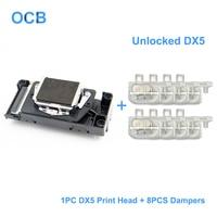 Original DX5 Unlocked Printhead DX5 Print Head For Epson Stylus Pro 4000 Printer Water Based Print Head (8 Pcs Dampers For Free)