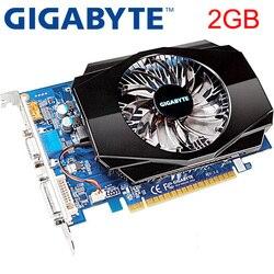 GIGABYTE Video Karte Original GT630 2GB 128Bit GDDR3 Grafiken Karten für nVIDIA VGA Karten Geforce GT 630 Hdmi Dvi verwendet Auf Verkauf