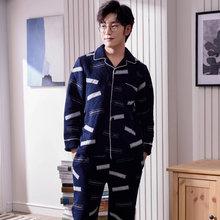 0a86c44538 J Q new arrival mens pajamas thicken winter sleepwear cotton layer warm  pyjamas suit mall sales quality top brand male pajamas