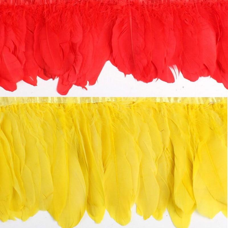 2 meter / los farbe gänsefedern 15 cm farbe federn gans rand bühne - Kunst, Handwerk und Nähen - Foto 5