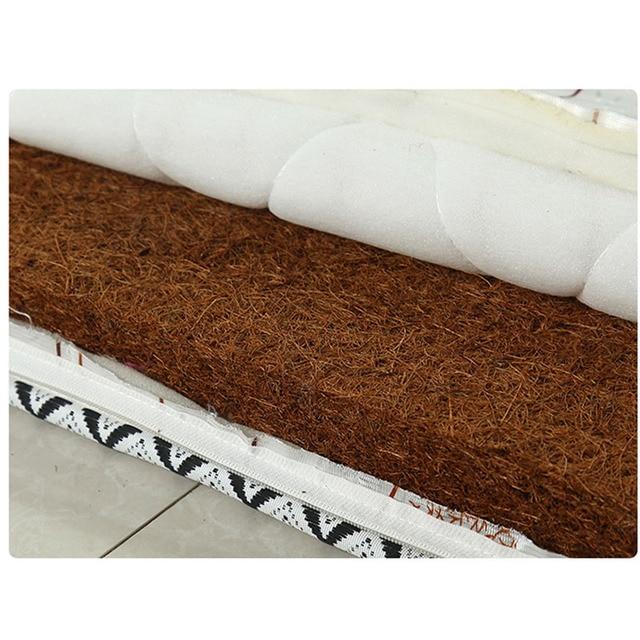 Chpermore colchão de coir natural grosso, 0.9m, único, dobrável, para dormitório de estudantes, para espalhamento, rainha, tamanho completo