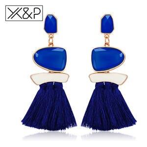 65d43beb2e6101 X&P Tassel Drop Earring for Women Long Vintage Jewelry