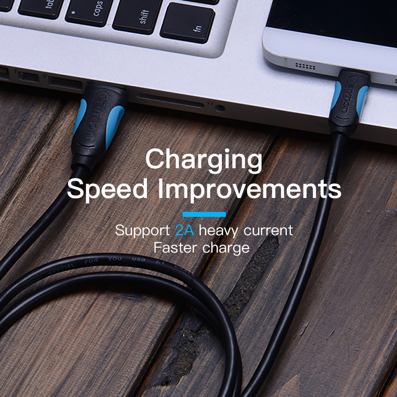 Image 5 - Vention USB C Cable USB Type C Cable 2A USB 3.1 Fast Charging USB C Data Cable Type C Cable for Samsung Huawei ZUK LG Xiaomi 0.5-in Data Cables from Consumer Electronics