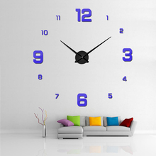 wandklok quartz horloge reloj de pared modern design grote decoratieve klokken Europa acrylstickers woonkamer clok 2018 heet