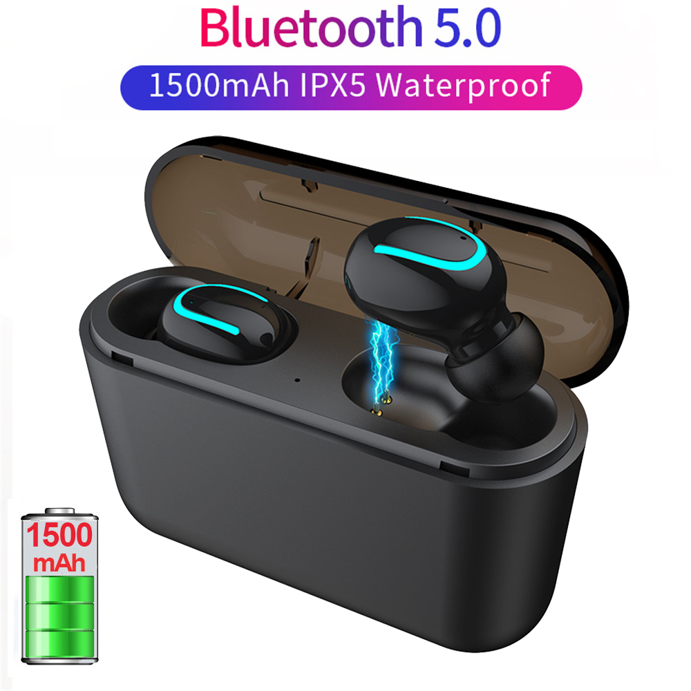Bluetooth 5.0 Headphones Wireless Bluetooth Earphone Sport Headset Handsfree Waterproof In-Ear Stereo Ear Buds For Smart Phone