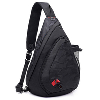 LJL-мужская водонепроницаемая черная камуфляжная маленькая нагрудная сумка рюкзак для мальчика мужской рюкзак с ремнем через плечо