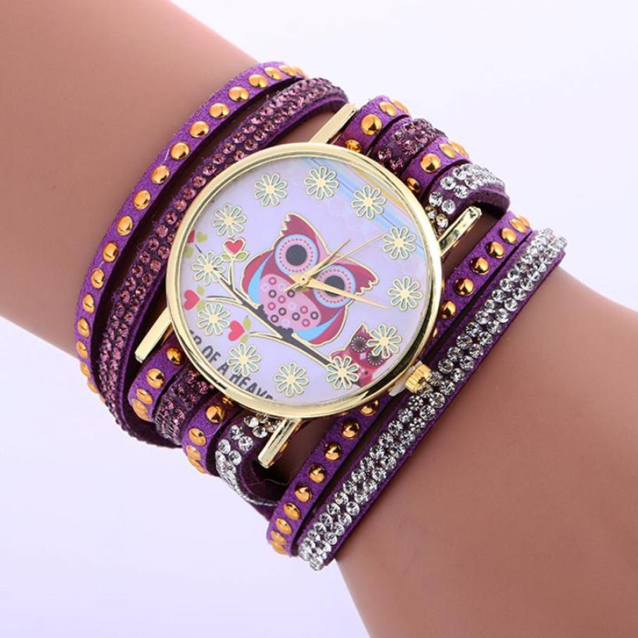 2018 Selling fashion watches Faux Chronograph Classic Plated Quartz Owl Pattern Chimes Leather Bracelet Lady Womans Wrist Watch 8ch 1080p hd realtime onvif poe network video recorder dahua hikvision 2mp poe camera support 8ch poe nvr recorder 48v poe nvr
