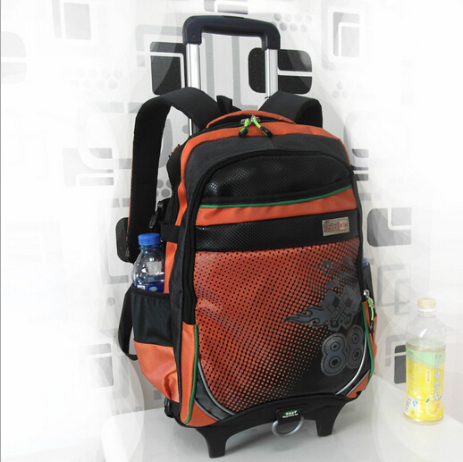 backpack child school bags kids bag wheels bolsa mochila infantil trolley detachable &88049