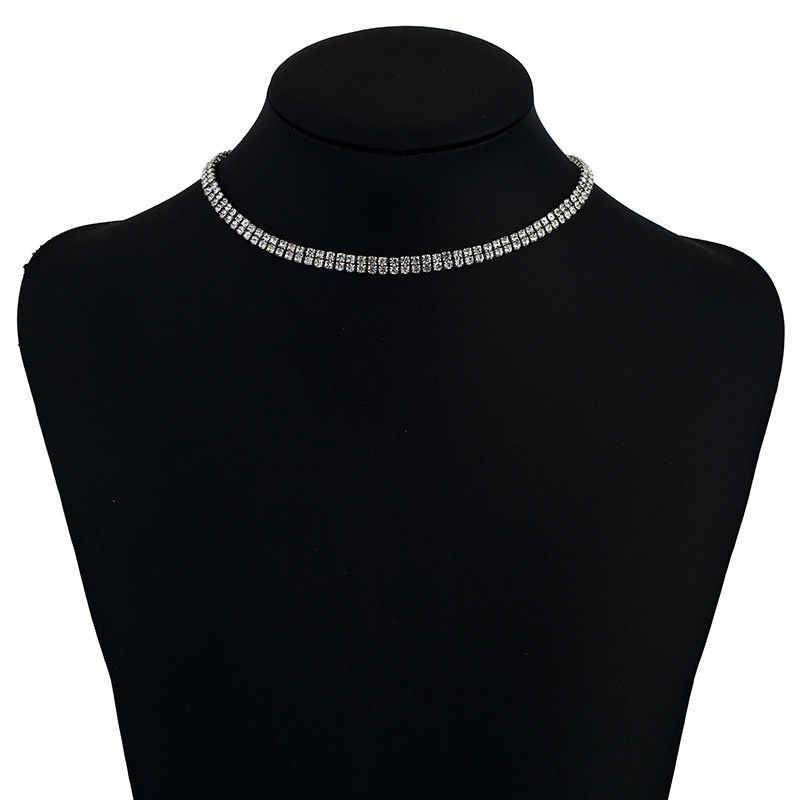 אופנה תכשיטי תליון ארוך לנשים קולר הצהרת טאסל קריסטל ריינסטון יוקרה Collares שרשרת תליון