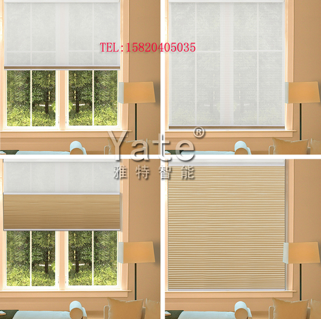 Adjustable Light Day And Night Honeycomb Blinds Soundproof Custom Bead  Control Cellular Curtain For Living Room