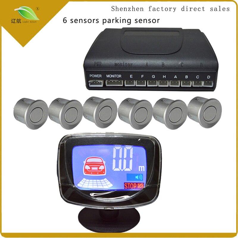 Light Heart Waterproof 6 Rear Front View Car font b Parking b font font b Sensors