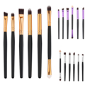 Professional 3 color 6pcs/set Pro Makeup Cosmetic Brushes Eyeshadow Eye Shadow Foundation Blending Brush Kit