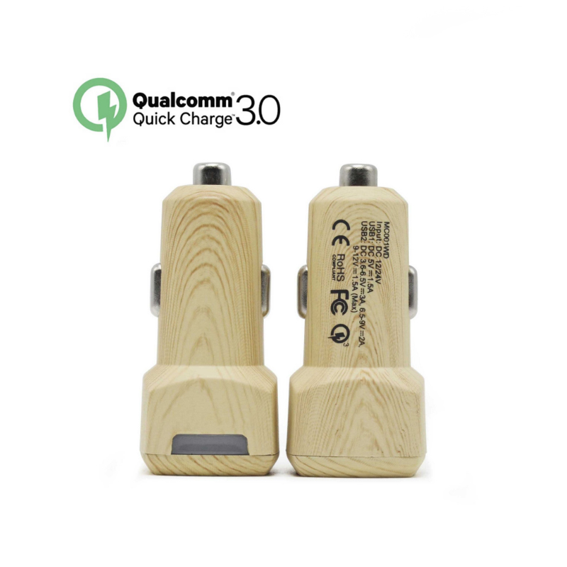 QC 3.0 Dual USB Car <font><b>Charger</b></font> <font><b>Phone</b></font> <font><b>Charger</b></font> Adapter for iPhone Asus ZTE Nubia LeEco LG HTC For Xiaomi Samsung Sony Moto Huawei