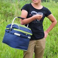Outdoor Picnic Basket Picnic Bag Ice Pack Lunch Bags And Coole Insulation Bag Cooler Box Food