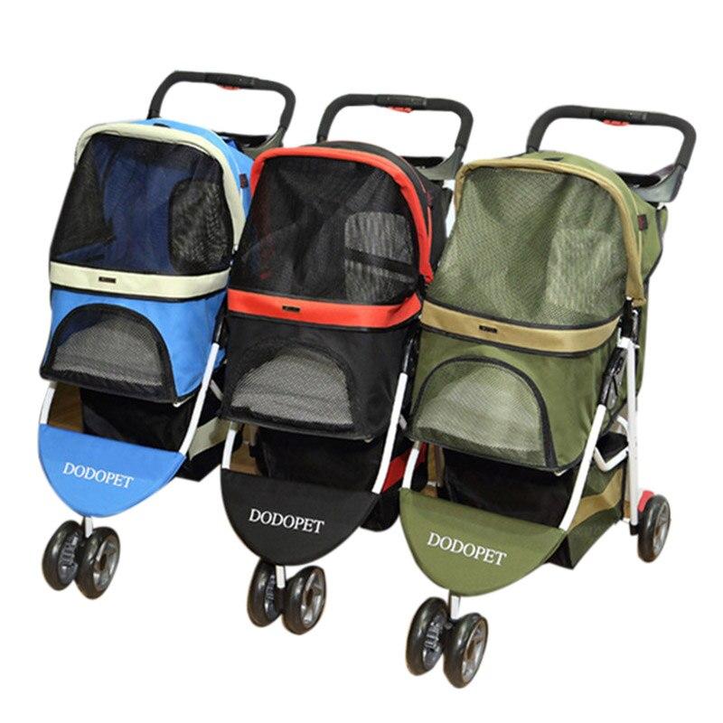 Small Pet Wheel Carrier Dog Stroller Cat Portable Stroller ...