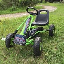 12 дюймов детские резиновые шины Air колеса педаль Go Karts стальная рама с ручной тормоз идти вперед и назад 2 функция