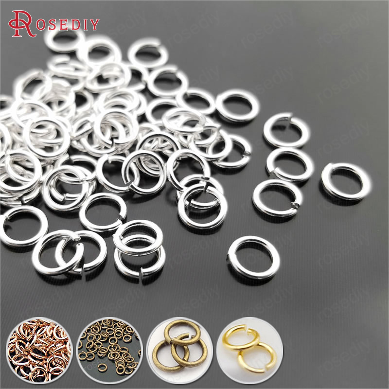 500 x Silver Plated 4mm Double Loop Open Jump Rings Connect Findings for Jewellery Making Bling