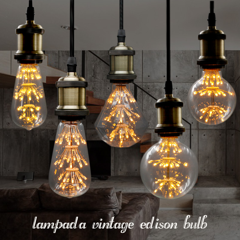 lampada led retro decorative filament edison light bulb style 110v vintage led e27 220v bulb lamp christmas tree lights indoor retro lamp st64 vintage led edison e27 led bulb lamp 110 v 220 v 4 w filament glass lamp
