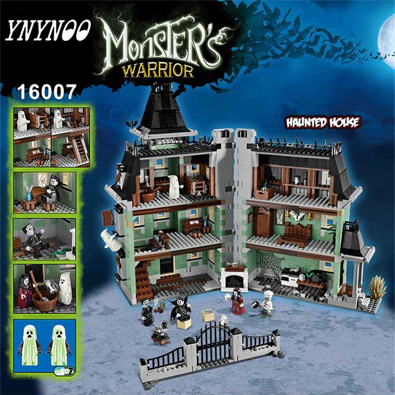 (YNYNOO)16007 2141Pcs City Fighter Haunted House Model Building Kit  Blocks Brick Compatible Toys