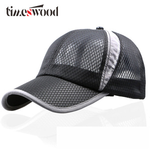 10 Colors New Brand Unisex Net Baseball Caps With Mesh Summer Breathable Hats Beach Women Men Cap Plain Black Pink New Fashion