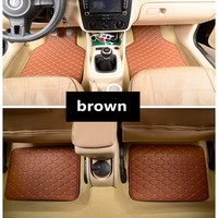 Car Floor Mats Universal for Bmw serie X5 F15 F31 E39 520i E60 F07 GT F10 520d E39 530d Car Leather waterproof floor mats carpet