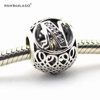 Pandulaso contas moda diy do alfabeto do vintage da letra n 925 fabricação de jóias de prata para as mulheres se encaixam pulseiras esterlina-prata-jóias