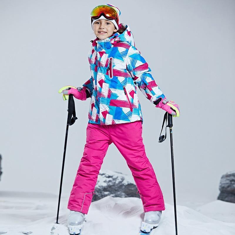 Warm Waterproof Child Coat Ski Suit Heavyweight Girls