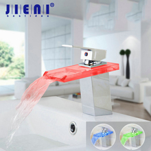 5 Years Warranty Brass Chrome Water Faucet Led Bathroom Kitchen Faucet Waterfall Faucet Led Faucet torneira Mixer