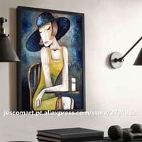 Home Decor Olieverfschilderij Abstracte Stijl Muziek Mensen Muur Art Voor Woonkamer Hotel Decor Klaar Om Opgehangen Topkwaliteit