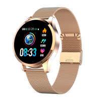 2019 Newwear Q9 Smart Watch Men Women IP67 Waterproof HR Sensor Blood Pressure Monitor Fashion Fitness Tracker Smartwatch Reloje